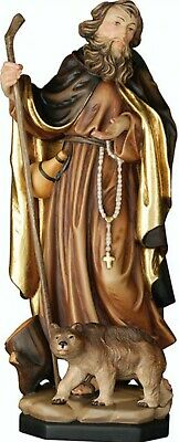 Statue St.Martin Romedio cm 20 Carved Wood of Valgardena Decorated by Hand