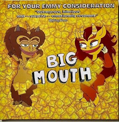 BIG MOUTH Complete Season 2 Netflix Emmy FYC DVD and Press Book 2019