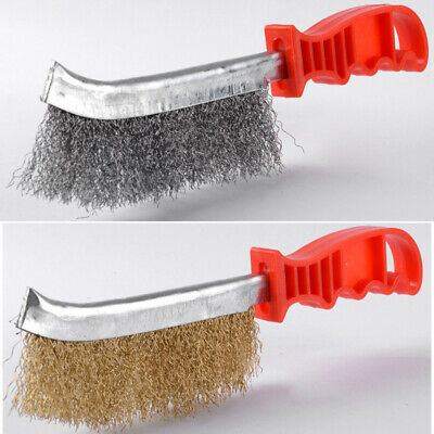 Steel Wire Brushes Clean Wheel Removal Metal Cleaning Rust Sanding With Handle