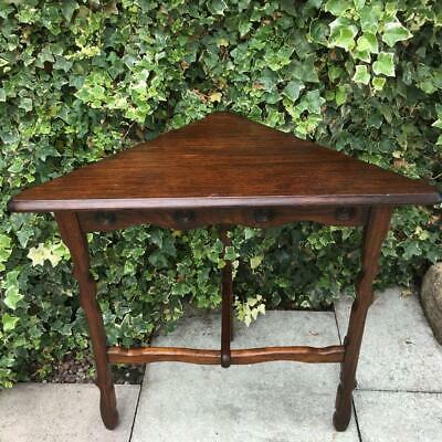 Antique Corner Table Hand Crafted Occasional Tripod Corner Table Space Saver