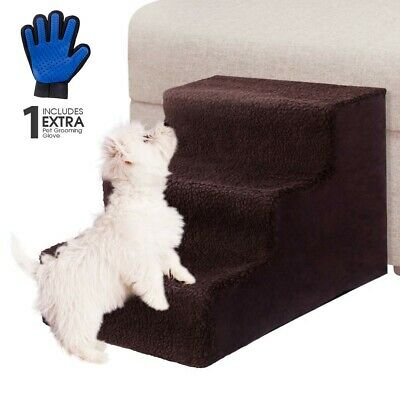 Pet Stairs Steps Portable Cat Dog Cover Step Ramp Climb For Pup Play Soft Animal