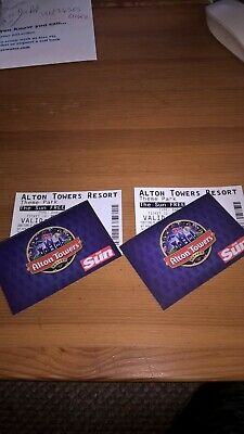 alton towers tickets x4  Friday  27th Sept  27.09.19  not e- tickets   27/09/19