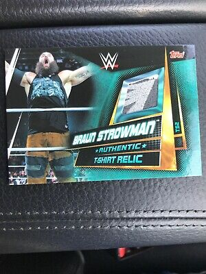 Topps WWE Slam Attax Universe Braun Strowman T-shirt Relic Card - Multi Colours!