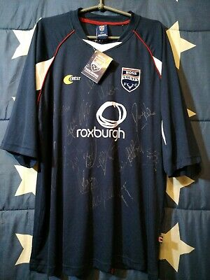 SIZE L Ross County 2007-2008 SIGNED HOME FOOTBALL SHIRT JERSEY NBWT