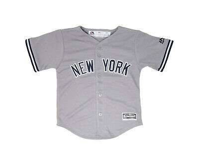 Majestic Toddlers Infants New York Yankees Gray Navy White Jersey