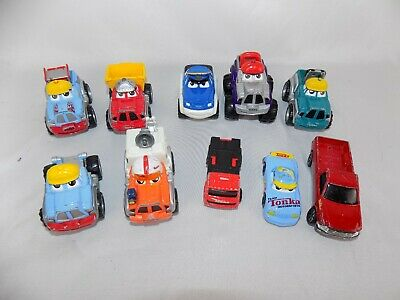 Collection of 10 Die Cast TONKA Lil CHUCK CARS & TRUCKS, made by Maisto