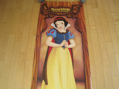 NOS!! 1987 vtg SNOW WHITE and the SEVEN DWARVES disney MOVIE DOOR POSTER HUGE