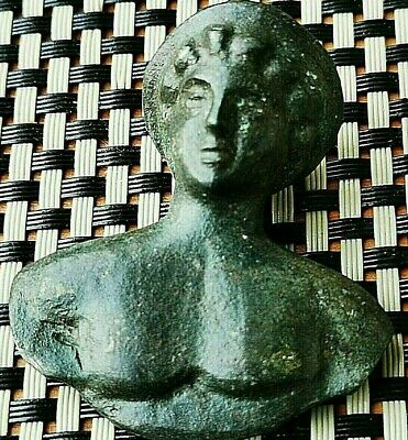 <<Incredible>> Ancient Roman Bronze Bust Of Artemis Circa 200-300 Ad Very Rare