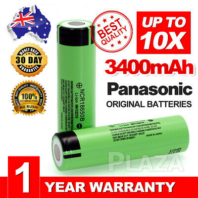 For Panasonic NCR 18650 B 3400mAh PROTECTED Lithium Li-Ion Rechargeable Battery