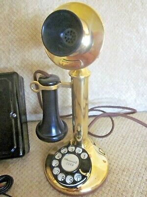 Western Electric Brass Dial Candlestick Telephone.