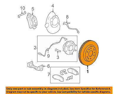 GM OEM Front Brake-Disc Rotor 13578074 NEW UN CUT FACTORY
