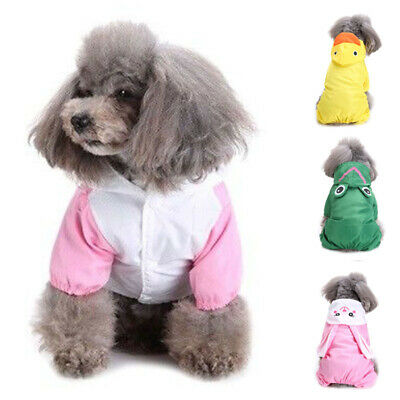Dog Cat Rain Coat Hoodie Raincoat Jacket Waterproof For SMALL Pet Size XS-XL HOT