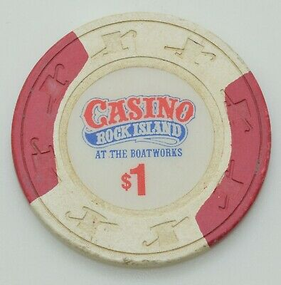 Rock Island $1 Casino Chip Rock Island Illinois H&C Paul-son Mold