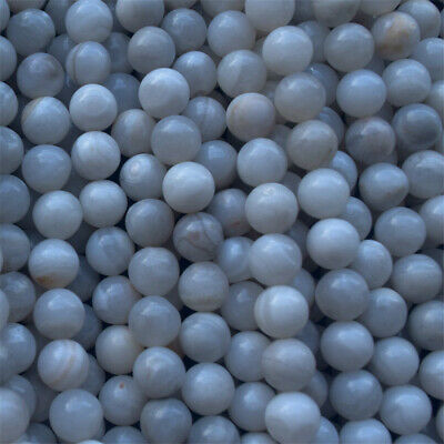 Natural White Crazy Agate Loose Beads Making Jewelry 15 inches Shining Gemstone