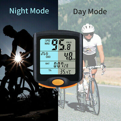 Wireless Cycle Bicycle Computer MTB Cycling Odometer Speedometer with Backlight