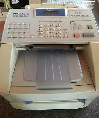 Brother 8360p Laser Fax Facsimile Laser photocopier copier high speed 33,600 bps