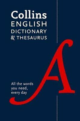 Collins English Paperback Dictionary and Thesaurus 9780008102876   Brand New