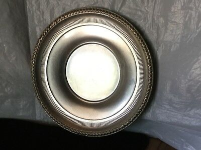 Vintage  Rogers Sterling 1950 Twisted Rope And Pierced Rim Plate
