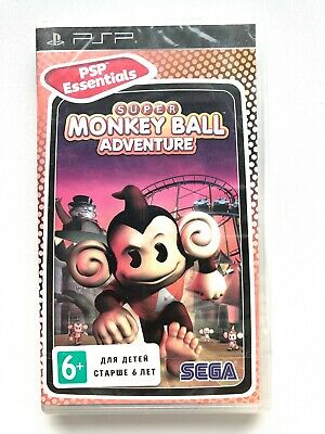 SUPER MONKEY BALL ADVENTURE PSP GAME Brand New Sealed Free Shipping