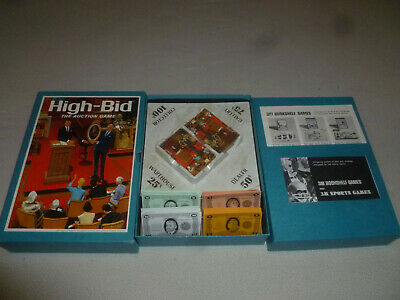 3M High Bid The Auction Game Vintage 1965 Bookshelf Boardgame