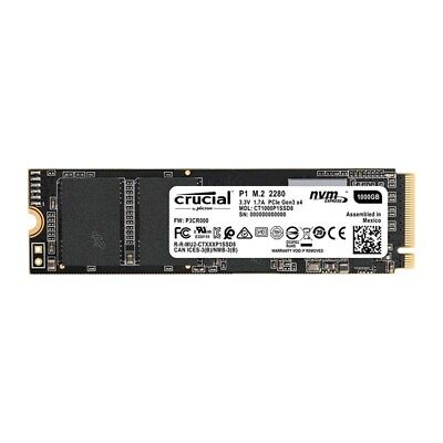 Crucial P1 1TB NVMe M.2 PCIe 3D NAND SSD CT1000P1SSD8
