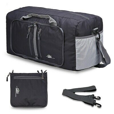 "Foldable Large Duffel Bag Lightweight 22"" Water Resistant Travel Packable Bag CA"