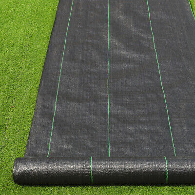 2M/3M/4M Wide Ground Cover Membrane Heavy Duty Weed Control Landscape Garden UK