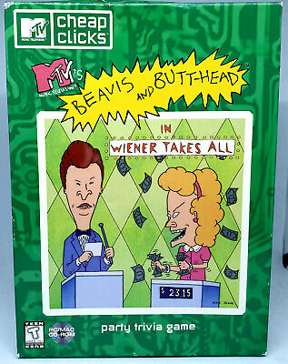 Beavis & Butthead - Wiener Takes All - Party Trivia Game - PC CD-ROM