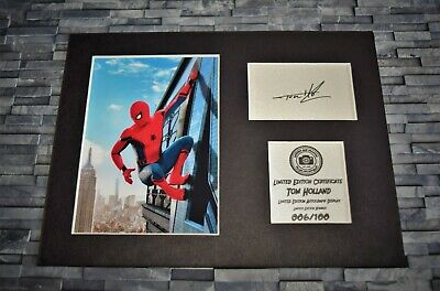 Tom Holland - Spider-Man - Avengers - Signed Autograph Display