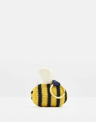 Joules Womens Coxwold Knitted Keyring in BUMBLEBEE in One Size