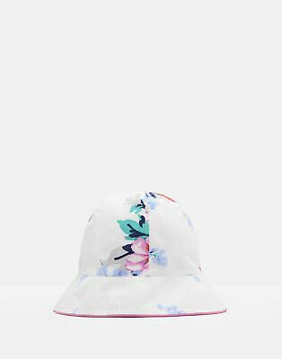 Joules Baby Sunseeker Reversible Bucket Hat in WHITE SMALL FLORAL