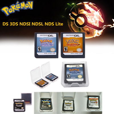 Pokemon HeartGold / SoulSilver Version Game Card For 3DS NDSI  NDS Lite