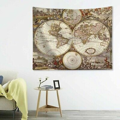 World Map Wall Art Quote Wall stickers Home Decals UK   SH168