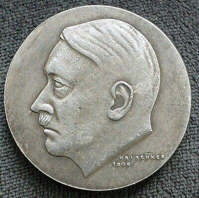 WW2 GERMAN COLLECTORS COIN HITLER 1939 50th BIRTHDAY REICHSMARK