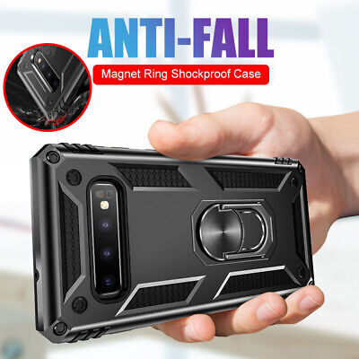 For Samsung Galaxy J8 J7 J6 J5 J4 Military Armor Case Magnetic Ring Stand Cover