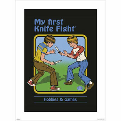 Steven Rhodes - My First Knife Fight ART PRINT POSTER 30x40cm NEW