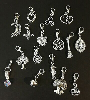 Pagan Clip On Charm Tibetan Silver for Bracelets Anklets Witch Wicca Jewellery