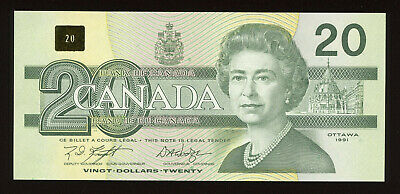 1991 Bank of Canada $20 - Knight - Dodge Signature S/N: EVV8264657
