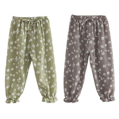 Kids Children Baby Girls Trousers Child Casual Floral Bloomers Harem Pants  P3I6