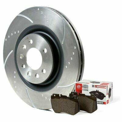 Civic Type R Brake Discs and Brembo Pads Brake Depot Dimpled Grooved EP3 300mm