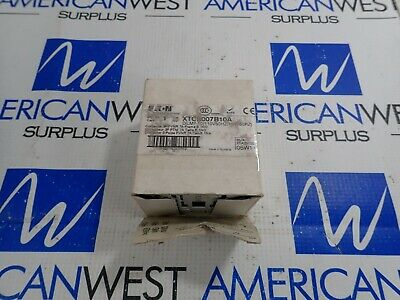 XTCE007B10A Eaton 7 Amp 3 Pole Contactor w/ DILM7-10 120VAC 60Hz Coil *NEW*