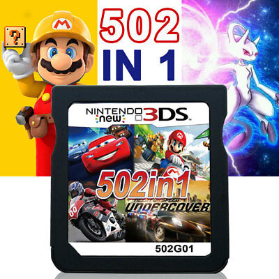 All Version Video Game Card 502 In 1 Cartridge Console for NDS NDSL 2DS 3DS NDSI