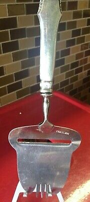 """Antique  Sterling Silver Handle Cheese Plane 8.25"""" 3 Tower Mark on the Back."""