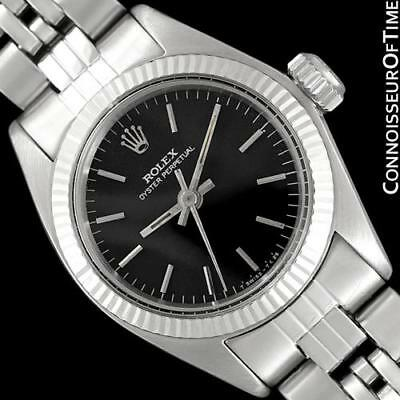 1974 ROLEX Vintage Ladies Oyster Perpetual SS & 18K White Gold - Mint w/Warranty