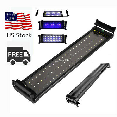 LED Aquarium Light White and Blue LED Fish Tank Light With Extendable Brackets