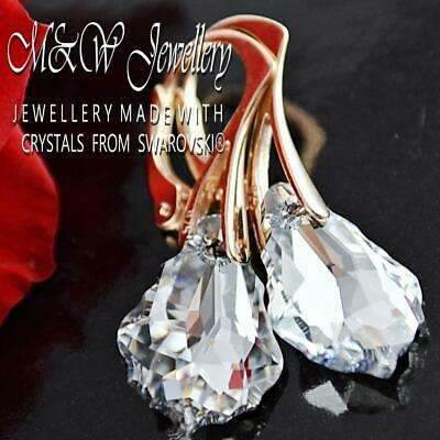 Rose Gold Pl. 925 Silver Earrings Crystals From Swarovski® BAROQUE - Crystal Cal