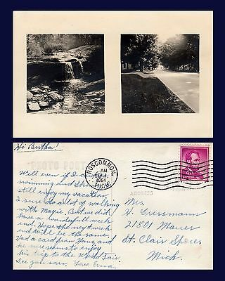 Michigan Rosscommon Postmark Two Views September 1, 1964 To St Clair Shores