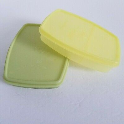 Tupperware Slim Packette Container Divided #813 & Seal #814 Lunch Snack Set of 2
