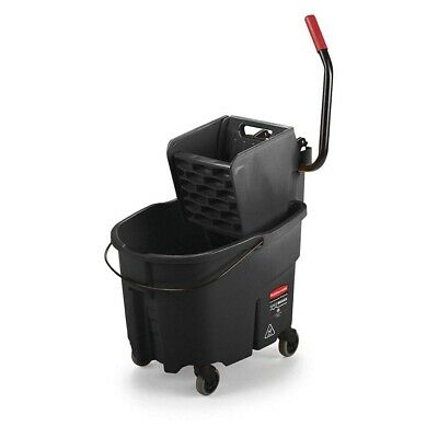 RUBBERMAID 1863896 Black Plastic Mop Bucket and Wringer, 8-3/4 gal.