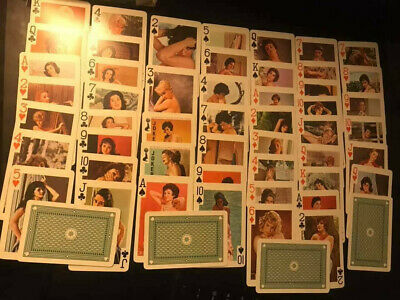 54 Models risque busty ladies women sexy vintage playing cards Gaiety full deck